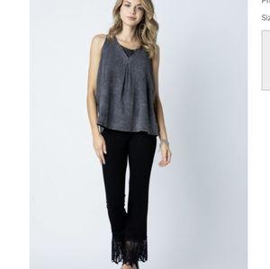 Vocal clothing black lace black stretch pants